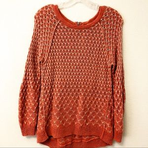Anthropologie Moth orange sweater